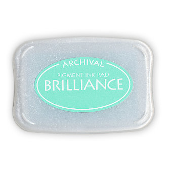 Tsukineko - Brilliance - Archival Pigment Ink Pad - Pearlescent Jade