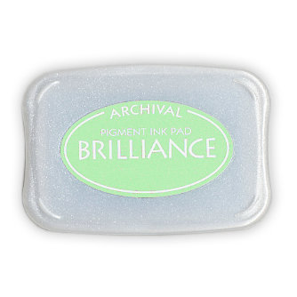 Tsukineko - Brilliance - Archival Pigment Ink Pad - Pearlescent Lime