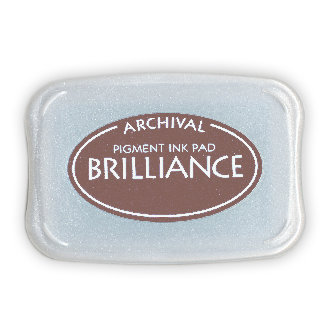 Tsukineko - Brilliance - Archival Pigment Ink Pad - Coffee Bean