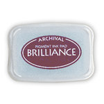 Tsukineko - Brilliance - Archival Pigment Ink Pad - Pearlescent Crimson