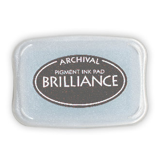 Tsukineko - Brilliance - Archival Pigment Ink Pad - Graphite Black
