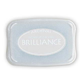 Tsukineko - Brilliance - Archival Pigment Ink Pad - Platinum Planet