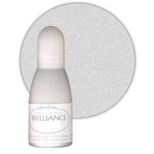 Tsukineko - Brilliance - Archival Pigment Ink Pad - Reinker - Platinum Planet