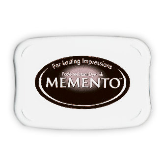 Tsukineko - Memento - Fade Resistant Dye Ink Pad - Tuxedo Black