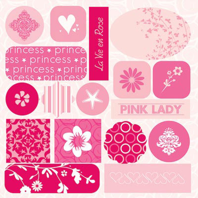 GCD Studios - Rose Colored Glasses Collection - Epoxy Stickers - Rose Colored Glasses - Baby - Girl, CLEARANCE