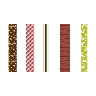 GCD Studios - Zen Garden Collection - Self Adhesive Ribbon - Zen Garden- Asian - Memory, CLEARANCE