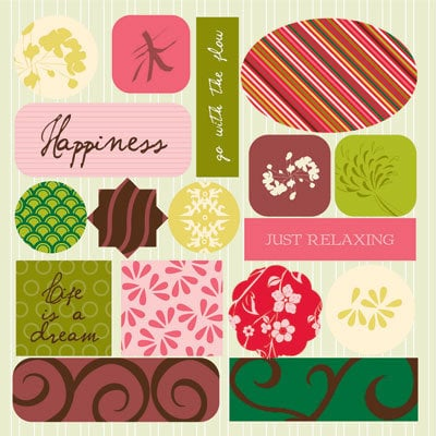 GCD Studios - Zen Garden Collection - Epoxy Stickers - Zen Garden- Asian - Memory, CLEARANCE