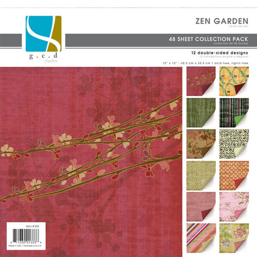 GCD Studios - Zen Garden Collection - 12x12 Double Sided Paper Collection Pack - Zen Garden - Asian - Memory