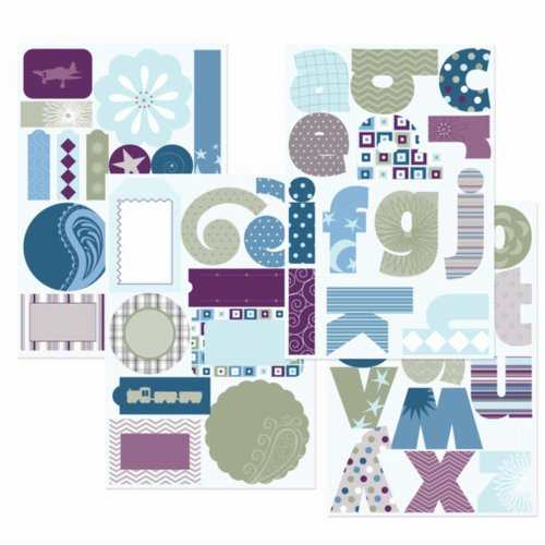 GCD Studios - Planes and Trains Collection - Self Adhesive Die Cut Chipboard - Planes and Trains - Boy , CLEARANCE