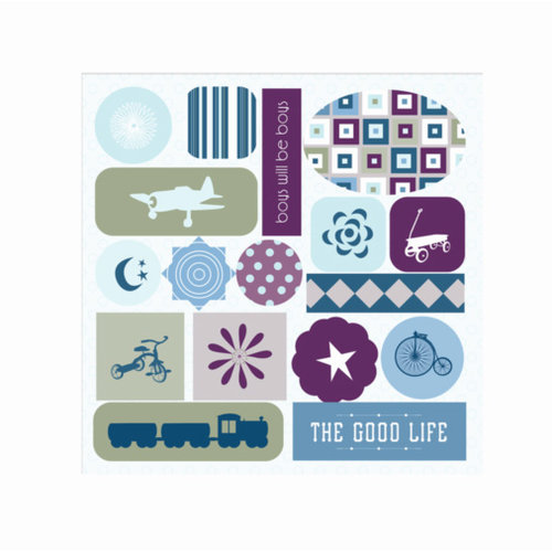 GCD Studios - Planes and Trains Collection - Epoxy Stickers - Planes and Trains - Boy