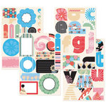 GCD Studios - Carnival Ride Collection - Self Adhesive Die Cut Chipboard - Carnival Ride Teen - Family - Birthday , CLEARANCE