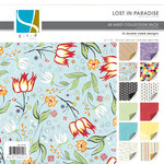 GCD Studios - Lost in Paradise Collection - 12x12 Double Sided Paper Collection Pack - Lost in Paradise - Travel - Beach , CLEARANCE