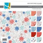 GCD Studios - Rockets Red Glare Collection - 12x12 Double Sided Paper Collection Pack - Rockets Red Glare - Patriotic - 4th of July - Fireworks, CLEARANCE