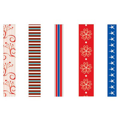 GCD Studios - Rockets Red Glare Collection - Self Adhesive Ribbon - Rockets Red Glare- Patriotic - 4th of July - Fireworks, CLEARANCE