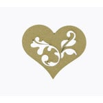 Grapevine Designs and Studio - Chipboard Shapes - Flourish Heart 2