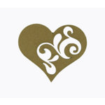 Grapevine Designs and Studio - Chipboard Shapes - Flourish Heart 1