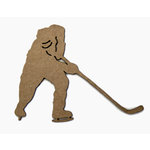 Grapevine Designs and Studio - Chipboard Shapes - Hockey Player