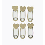 Grapevine Designs and Studio - Chipboard Shapes - Heart Diaper Pins