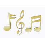 Grapevine Designs and Studio - Wood Shapes - Musical Notes