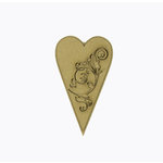 Grapevine Designs and Studio - Chipboard Shapes - Flourish Heart Long