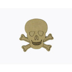 Grapevine Designs and Studio - Halloween - Chipboard Shapes - Skull and Crossbones - Medium