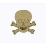 Grapevine Designs and Studio - Halloween - Chipboard Shapes - Skull and Crossbones - Small