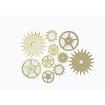 Grapevine Designs and Studio - Chipboard and Wood Shapes - Gears