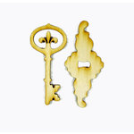 Grapevine Designs and Studio - Wood Shapes - Fleur de Lis Lock and Key