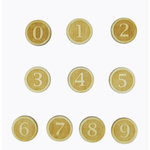 Grapevine Designs and Studio - Wood Shapes - Circle Numbers - 10 Pieces