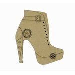 Grapevine Designs and Studio - Chipboard Shapes - Steampunk Boot - Medium