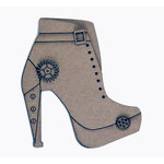 Grapevine Designs and Studio - Chipboard Shapes - Steampunk Boot - Large