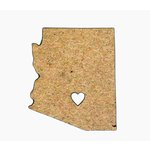 Grapevine Designs and Studio - Chipboard Shapes - Arizona with Heart