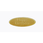 Grapevine Designs and Studio - Wood Shapes - Happy Birthday - Oval