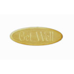 Grapevine Designs and Studio - Wood Shapes - Get Well - Oval