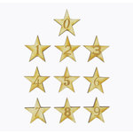 Grapevine Designs and Studio - Wood Shapes - Star Numbers - 10 Pieces