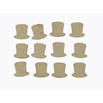 Grapevine Designs and Studio - Chipboard Shapes - Itty Bitty Pieces - Top Hat