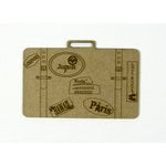 Grapevine Designs and Studio - Chipboard Shapes - Etched Suitcase