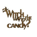 Grapevine Designs and Studio - Halloween - Chipboard Shapes - Witch Way to the Candy