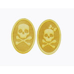 Grapevine Designs and Studio - Halloween - Wood Shapes - His and Her Skull Crossbones Set