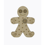 Grapevine Designs and Studio - Christmas - Chipboard Shapes - Steampunk Gingerbread Man