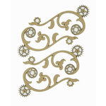 Grapevine Designs and Studio - Chipboard Shapes - Gear Flourish