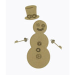 Grapevine Designs and Studio - Christmas - Chipboard Shapes - Steampunk Snowman