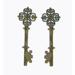 Grapevine Designs and Studio - Wood Shapes - Celtic Etched Keys