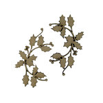 Grapevine Designs and Studio - Christmas - Chipboard Shapes - Holly Vines