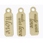 Grapevine Designs and Studio - Chipboard Shapes - Made With Love Tags