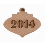 Grapevine Designs and Studio - Christmas - Chipboard Shapes - 2014 Ornament