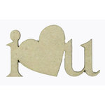 Grapevine Designs and Studio - Chipboard Shapes - I Heart U