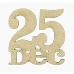 Grapevine Designs and Studio - Christmas - Chipboard Shapes - 25 Dec