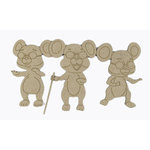 Grapevine Designs and Studio - Chipboard Shapes - Three Blind Mice