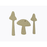 Grapevine Designs and Studio - Chipboard Shapes - Mushroom Set